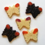 vegan chocolate butterflies