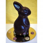 Hollow vegan organic chocolate Easter bunny