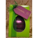 Pink shimmer Easter egg in green box