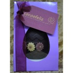 Pink daisy Easter egg in lilac box