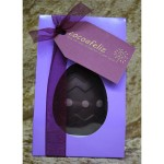 Dotty pink Easter egg in lilac box